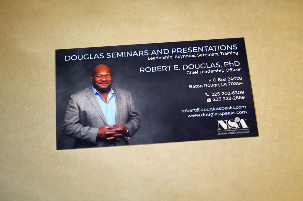 Robert Douglas business card design