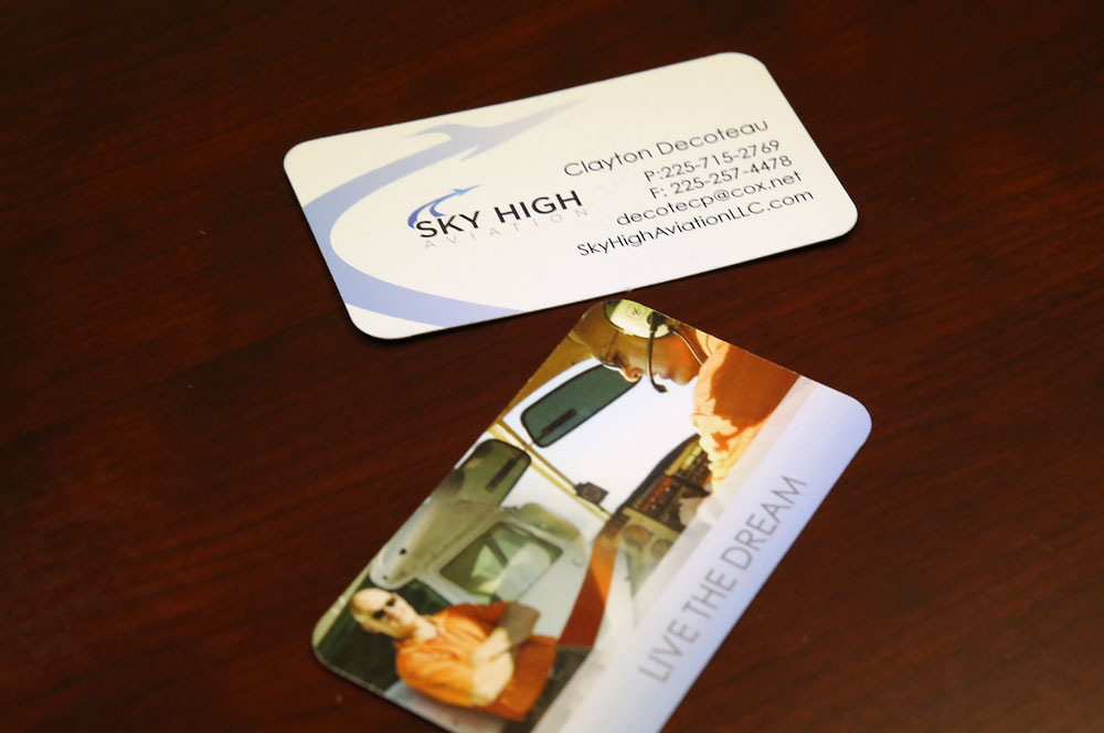 Sky High Aviation business card design