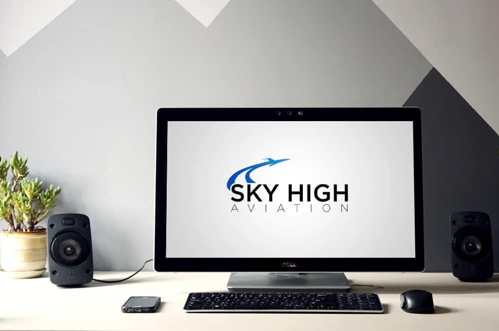 Sky High Aviation Logo Design